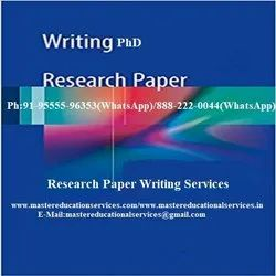PhD Research Paper Writing Services In India