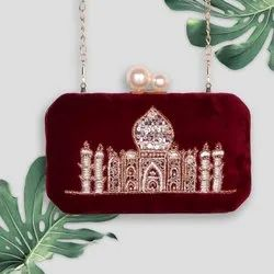 Designer Pearl Party Clutch