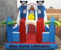 Sunflower And Micky Mouse Inflatable Bouncy
