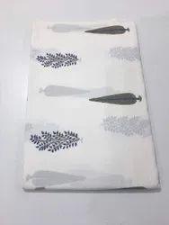 Pure Cotton White Fabric Running