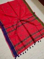 Party Wear Cotton silk Z buti Saree With Blouse Price., 6.3M