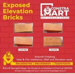 Clay Exposed elevation bricks