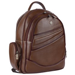 Hammonds Flycatcher Genuine Leather Brushwood 15.6 Inch Laptop Backpack
