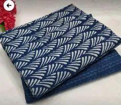 Blue Cotton Indigo Print Fabric