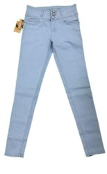 Ladies Light Blue 3 Button Denim Jeans, Waist Size: 32