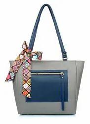 Cosmo Shoulder Bag PKT-ZIP-Ribbon-Grey (134), For WWomens Girls, 480g
