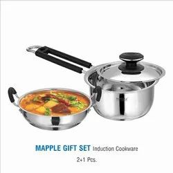 Stainless Steel Cookware Gift 2+1 Set- Mapple