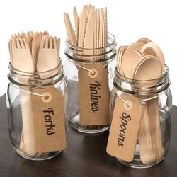 Plastic And Wooden 100 Pcs Disposable Cutlery, For Event And Party Supplies