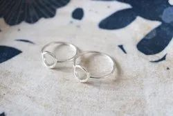 Circle Solid Sterling Silver Ring
