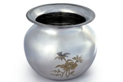 Stainless Steel Laser Craft Lota, Size: 10 Inch