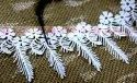 Gpo Flower With Feather  Designer polyester lace for women