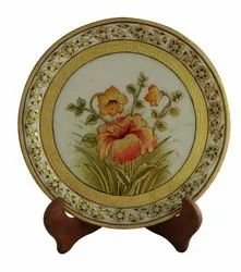 Marble 9 inch plate floral fine