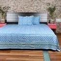 Sanganeri Cotton Printed Double Bedsheets
