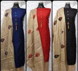 Patiyala 44-45 Banarasi Silk Jackard Butti Dress Material, For Party Wear, Size: Large
