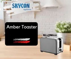 Stainless Steel Hafele Amber Toaster Grey and Red Available in 2 Colors, For Home, Toasting