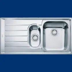 Double Grey Franke Kitchen Sink, Size: 40 X 20 (inch)