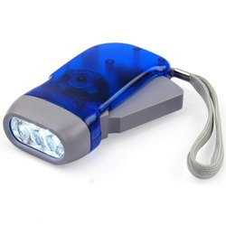 Plastic Cool White Hand Pressing Torch, Capacity: 13000-15999 mAh