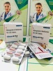 Glimepiride And Metformin HCL SR Tablets