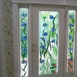 Green and Blue Window Printed Glass