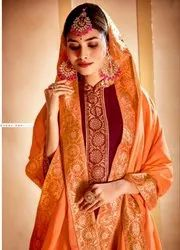 Designer Gown With Heavy Dupatta