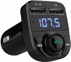 Ausha Handsfree Call Car Charger Wireless Bluetooth FM Transmitter Radio Receiver