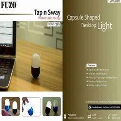 FUZO Plastic TGZ-253 Tap n Sway Capsule Shaped Desktop Light