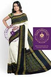 Ikat Silk Saree, With blouse piece