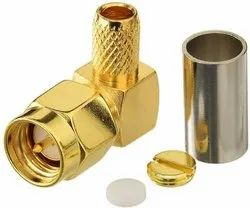 SMA Male Plug Right Angle Connector For LMR200 Coax Cable