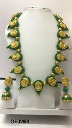 Terracotta Long Necklace set