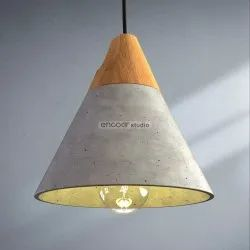 Warm White Cement Pendant Lamp, For Indoors