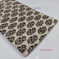 Mulmul Hand Block Printed Fabric