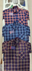 Tog 11 Cotton Mens Long Sleeves Check Shirt, Size: S-XL