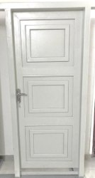White Powder Coated Steel Doors, Single