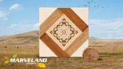 MARVELANO White Ceramic Wooden Floor Tile, Size: 60 * 60 In cm, Thickness: 5-10 mm