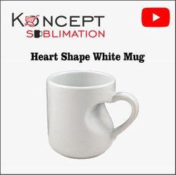 Heart Cut White Sublimation Mug