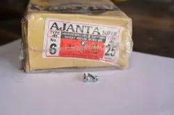Sheet Metal Polished Ajanta Screw, For Hardware Fitting, Size: 6 X 25
