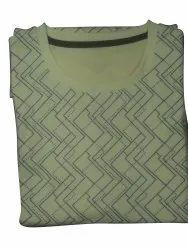 Printed Mens Yellow Dry Fit T Shirt, Size: Small