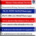 UK Dissertation Writing Services in India