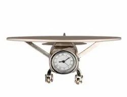 Analog steel Airplane Table Clock, For Office