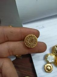 Golden Metal Handmade Zari Button, For Kurti And Suits, Packaging Type: Packet