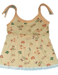 Girl Orange Printed Newborn Baby Sinkar Cotton Dori frok, Age Group: 3 Months