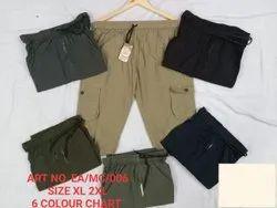 Casual Brown Mens Plain Cotton Capri