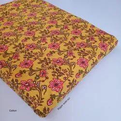 Ladies Yellow Cotton Suit Fabric