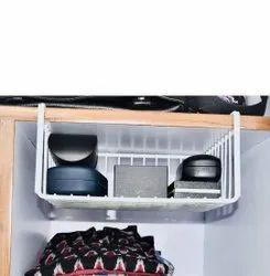 Under Shelf Basket Set Of 2 Pcs Slide Under Shelf Kitchen Organizer Wire Basket For Kitchen