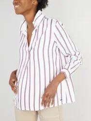 Export Surplus Ladies Stripes Shirt