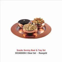 Snacks Serving bowl  & Tray set