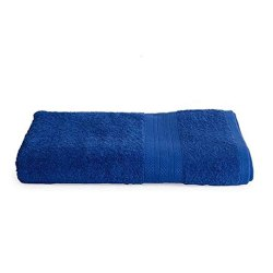Femesta Cotton Blue Plain Bathroom Towel, Size: 30 X 60 Inches