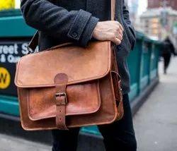 Men's Genuine Vintage Leather Messenger Bag Shoulder Laptop Bag Briefcase New
