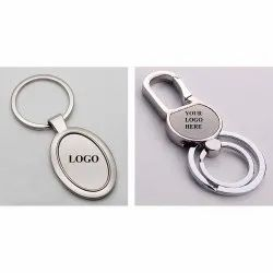 Personalize Engraved Metal Keychain For Brand Promotion