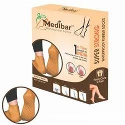 Unisex Waterproof Rubber Socks, Size: Medium